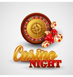 Casino background with cards chips craps and vector image vector image