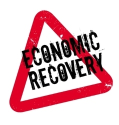 Economic recovery rubber stamp vector