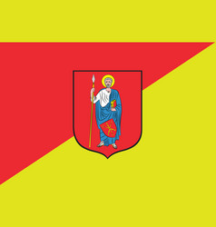 flag of zamosc city in southeastern poland vector image vector image