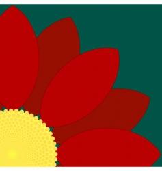 flower quarter vector image vector image