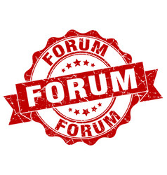 Forum stamp sign seal vector