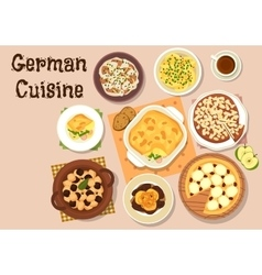 German cuisine traditional dinner icon vector