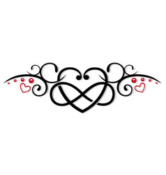Infinity heart love vector
