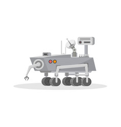 Mars rover with hand manipulator icon vector