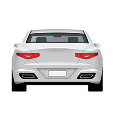 Modern generic car rear view vector