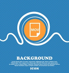 Mov file format icon sign blue and white abstract vector