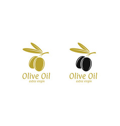 olive oil logo vector image vector image