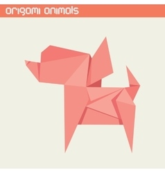 origami isolated animal Cute Dog vector image