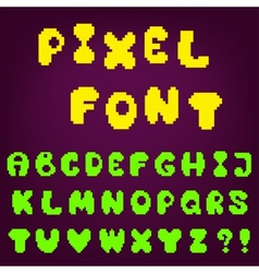 pixel game font vector image