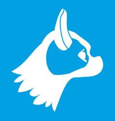 Pug dog icon white vector
