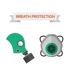 Respiratory protection vector image