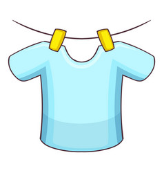 shirt on the rope icon cartoon style vector image