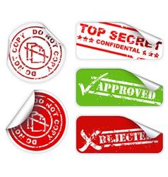 Top secret labels vector