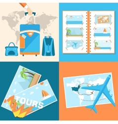Tour of the world tourism with fast travel vector