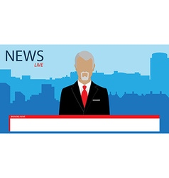 Tv broadcast news vector