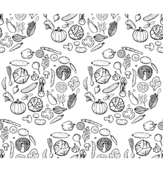 Vegetable Doodle Seamless Pattern vector image vector image