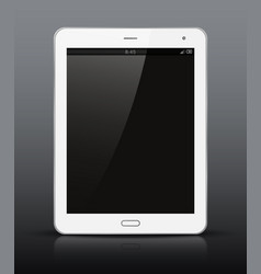 white tablet pc with black screen vector image vector image