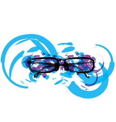 Abstract eyeglasses vector