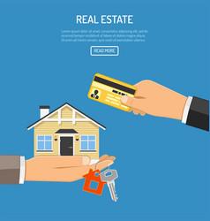 buy rent real estate vector image