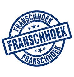 Franschhoek blue round grunge stamp vector