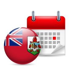 Icon of national day in bermuda vector