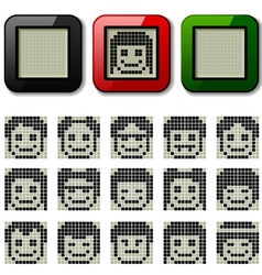 Lcd display pixel faces vector