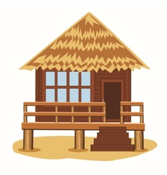 Bungalow on pile vector