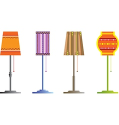 Floor lamps vector