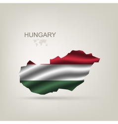 Flag of hungary as a country vector