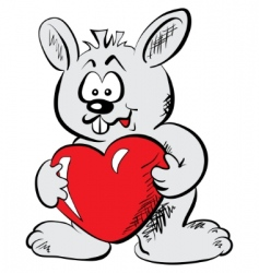 rabbit with the heart vector image