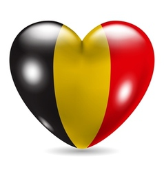 Heart shaped icon with flag of belgium vector