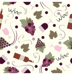 Seamless pattern vintage wine vector image