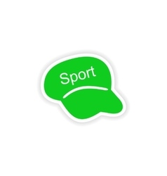 Icon sticker realistic design on paper cap sport vector