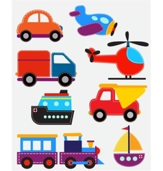Set of transport toys vector