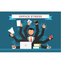 Office job stress work vector