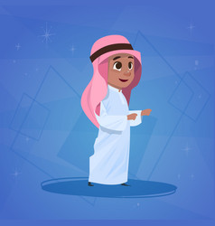 arab boy small cartoon character muslim male vector image vector image