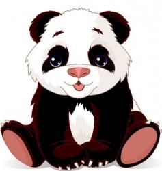 baby panda vector image