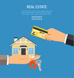 Buy rent real estate vector
