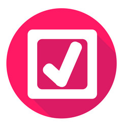 Check mark or accept icon of set material design vector
