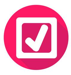 Check mark or accept icon of set material design vector