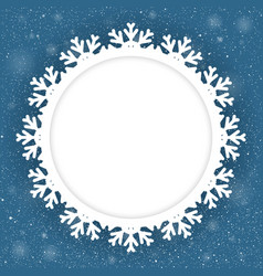 Circle Blue Background New Year Snow Snowflake vector image vector image