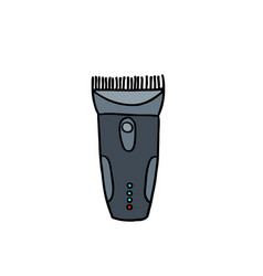 clippers hair doodle icon vector image