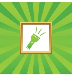 Flashlight picture icon vector