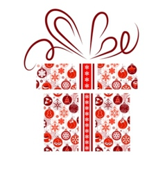 gift box made of christmas symbols vector image vector image