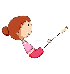 Girl stretching vector image vector image