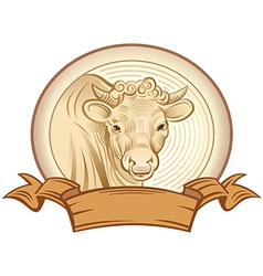 Graphical bull vector image vector image