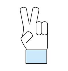 Hand peace symbol vector