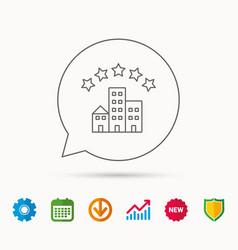 Hotel icon five stars service sign vector