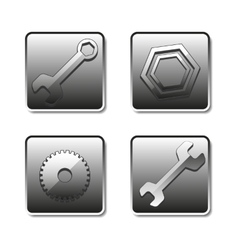 Icons setting vector image