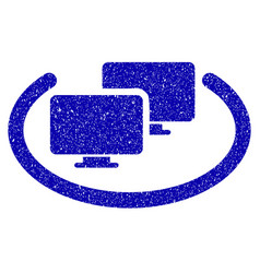 Intranet computers icon grunge watermark vector